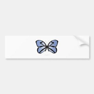 Adesivo De Para-choque Aleta azul gigante da borboleta 5 azuis