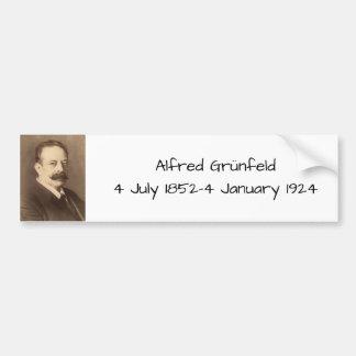 Adesivo De Para-choque Alfred Grunfeld
