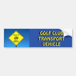 Adesivo De Para-choque Amarelo do veículo de transporte do clube de golfe