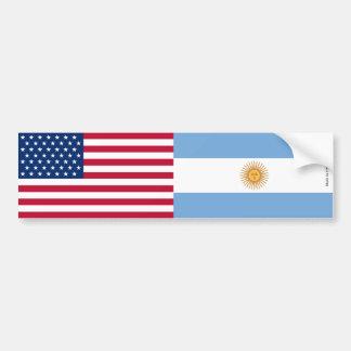 Adesivo De Para-choque Americano & argentino embandeira o autocolante no