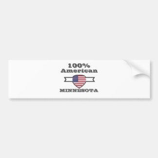 Adesivo De Para-choque Americano de 100%, Minnesota