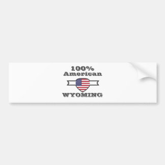 Adesivo De Para-choque Americano de 100%, Wyoming