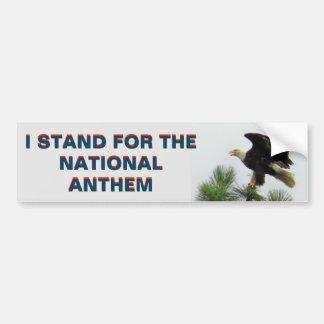 Adesivo De Para-choque Americano Eagle que eu represento o hino