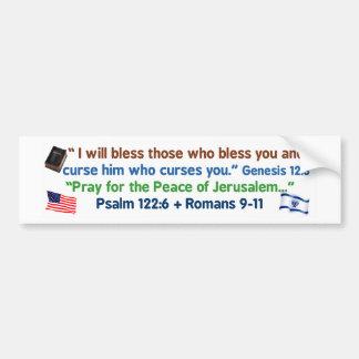 Adesivo De Para-choque Americanos - abençoe o deus e a Israel
