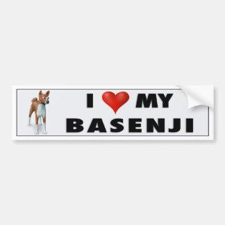 Adesivo De Para-choque Amor BAS1 de Basenji