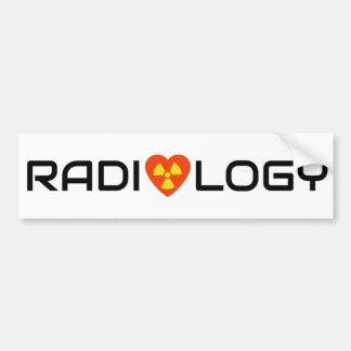 Adesivo De Para-choque Amor da radiologia