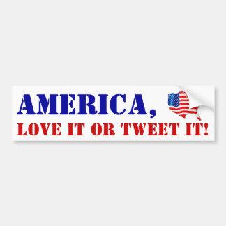 Adesivo De Para-choque Amor de América da bandeira dos autocolantes no