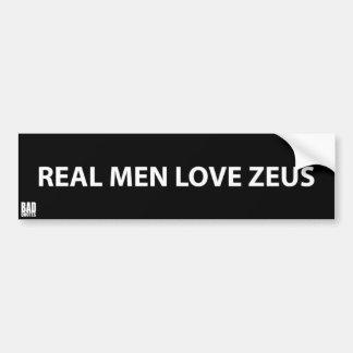 Adesivo De Para-choque Amor real Zeus dos homens - etiqueta ateu