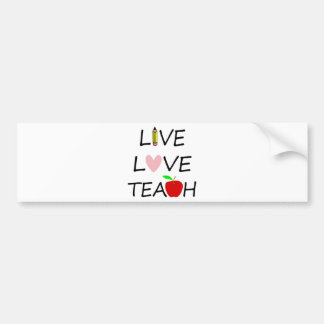 Adesivo De Para-choque amor vivo teach2
