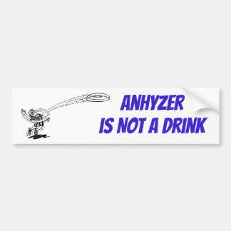 Adesivo De Para-choque Anhyzer não é uma etiqueta da bebida