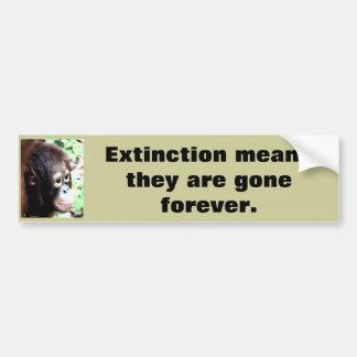 Adesivo De Para-choque Animais selvagens do salvamento da extinção
