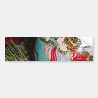 Adesivo De Para-choque Anjo do Natal - arte do Natal - decorações do anjo