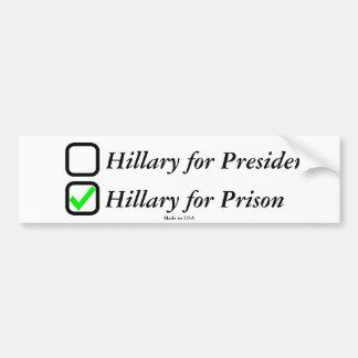 Adesivo De Para-choque Anti autocolante no vidro traseiro de Hillary