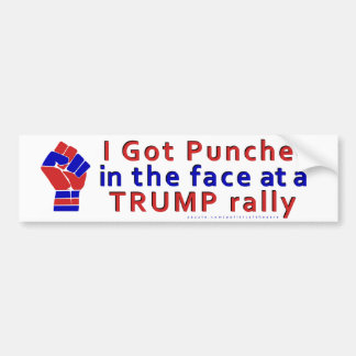 Adesivo De Para-choque Anti engraçado de Donald Trump perfurado na cara