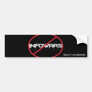 Adesivo De Para-choque Anti-Infowars autocolante no vidro traseiro