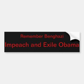 Adesivo De Para-choque Anti-Obama Benghazi