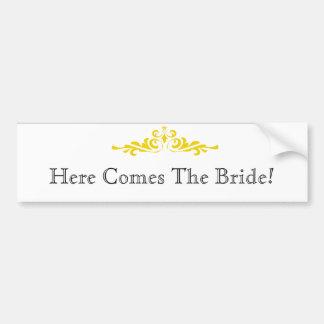 Adesivo De Para-choque Anúncio da noiva