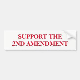 Adesivo De Para-choque Apoie a segunda alteração