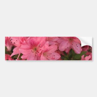 Adesivo De Para-choque Arbusto de florescência cor-de-rosa brilhante