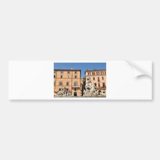 Adesivo De Para-choque Arquitetura italiana na praça Navona, Roma, Italia