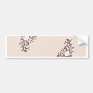 Adesivo De Para-choque Arranjo floral no rosa e no malva