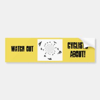Adesivo De Para-choque Arte abstrata da raça de bicicleta