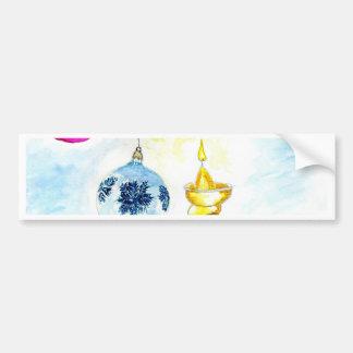 Adesivo De Para-choque Arte da vela do Xmas