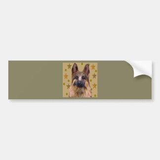Adesivo De Para-choque Arte do soldado do german shepherd