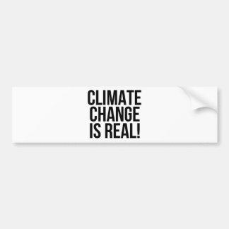 Adesivo De Para-choque As alterações climáticas são reais! Mundo da terra