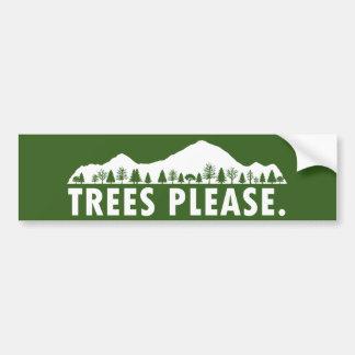Adesivo De Para-choque As árvores satisfazem