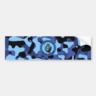 Adesivo De Para-choque As forças armadas azuis camuflam com granada