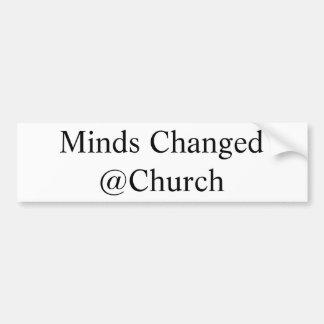 Adesivo De Para-choque As mentes mudaram a etiqueta do @Church