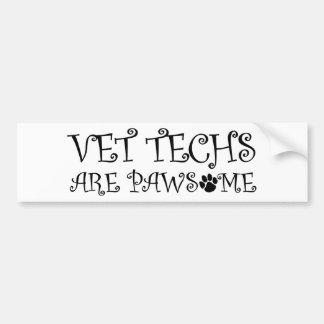 Adesivo De Para-choque As tecnologias do veterinário são Pawsome