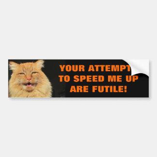 Adesivo De Para-choque As tentativas de Tailgaters são gato inútil Meme