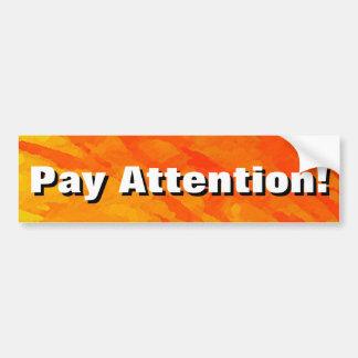 Adesivo De Para-choque Atenção do pagamento!