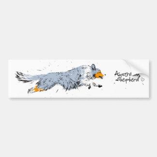 Adesivo De Para-choque Australian Shepherd, blue merle