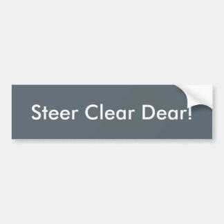 Adesivo De Para-choque Autocolante no vidro traseiro claro do boi caro