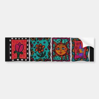 Adesivo De Para-choque Autocolante no vidro traseiro da arte do Hippie