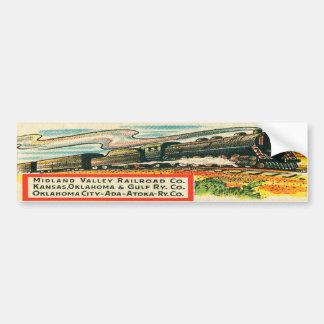 Adesivo De Para-choque Autocolante no vidro traseiro da estrada de ferro