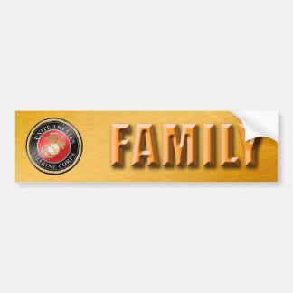 Adesivo De Para-choque Autocolante no vidro traseiro da família do USMC