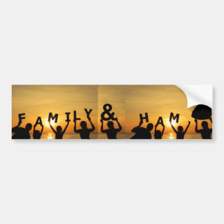 Adesivo De Para-choque Autocolante no vidro traseiro da família e do