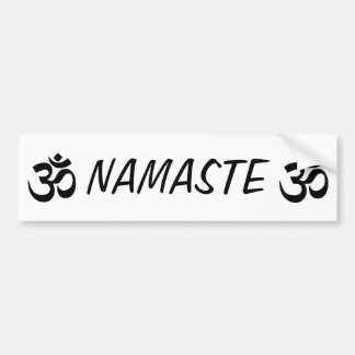 Adesivo De Para-choque Autocolante no vidro traseiro da IOGA de Namaste