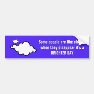 Adesivo De Para-choque Autocolante no vidro traseiro da piada da nuvem