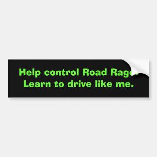 Adesivo De Para-choque Autocolante no vidro traseiro da raiva da estrada