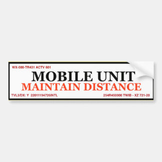 Adesivo De Para-choque Autocolante no vidro traseiro da unidade móvel -