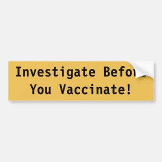 Adesivo De Para-choque Autocolante no vidro traseiro da vacinação