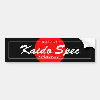 Adesivo De Para-choque Autocolante no vidro traseiro das especs. de Kaido