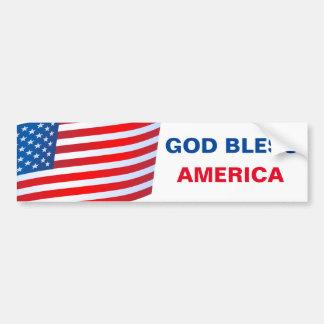 Adesivo De Para-choque Autocolante no vidro traseiro de América dos deus