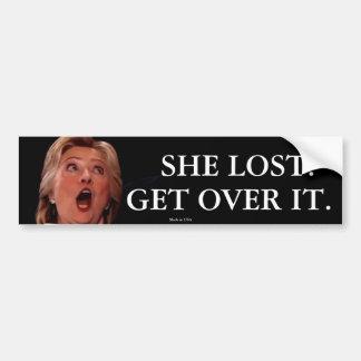 Adesivo De Para-choque Autocolante no vidro traseiro de Anti-Hillary