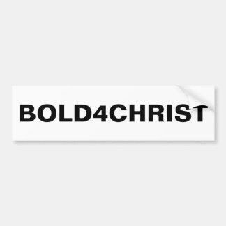 """Adesivo De Para-choque Autocolante no vidro traseiro de """"Bold4Christ"""""""